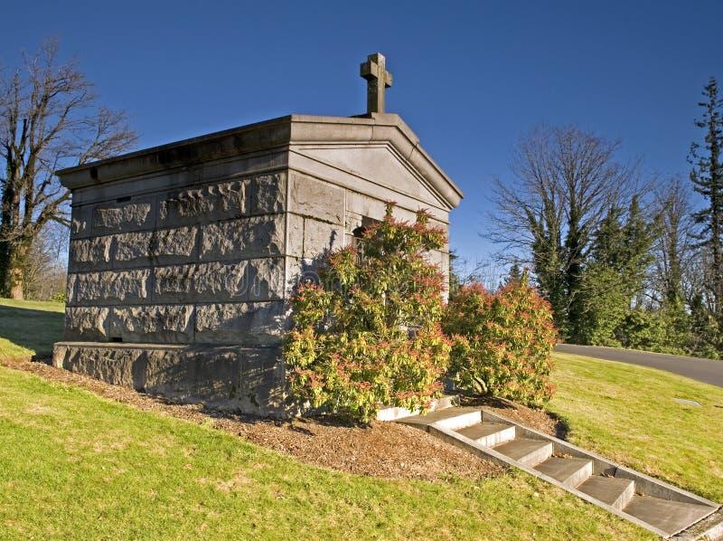 усыпальница кладбища стоковые изображения rf