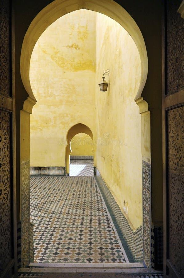 усыпальница мавзолея ismail moulay стоковое изображение