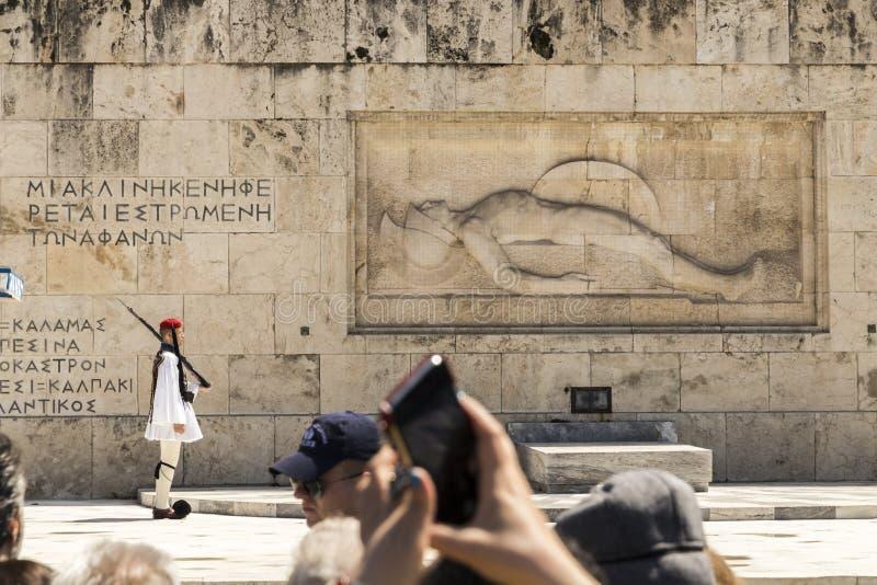 Усыпальница неизвестного солдата, Афина стоковая фотография