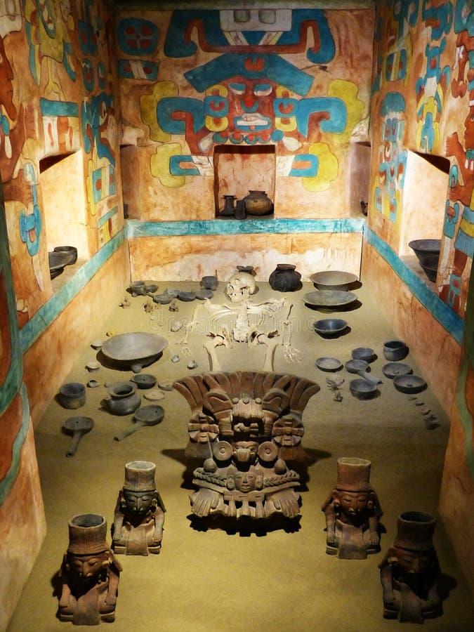 Усыпальница 104 от Monte Alban, Оахака, Мексики - Национального музея антропологии стоковые изображения rf