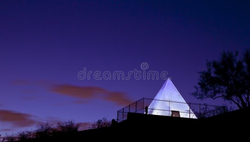 усыпальница пирамидки s tempe hunt Аризоны стоковые изображения