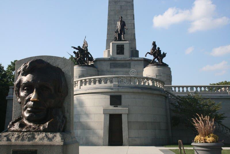 Усыпальница Спрингфилд Иллинойс Авраама Линкольна мемориальная стоковые изображения rf
