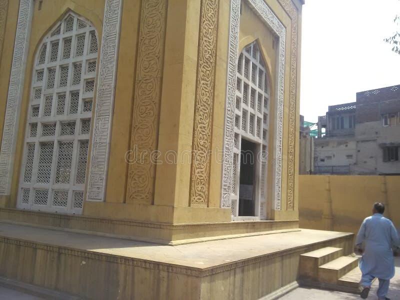 Усыпальница Din Aibak Лахора Пакистана ud Qutb султана стоковая фотография