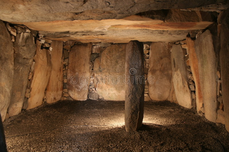 усыпальница dolmen dehus стоковая фотография rf
