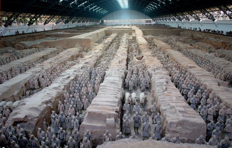 усыпальница si qin huang стоковые изображения