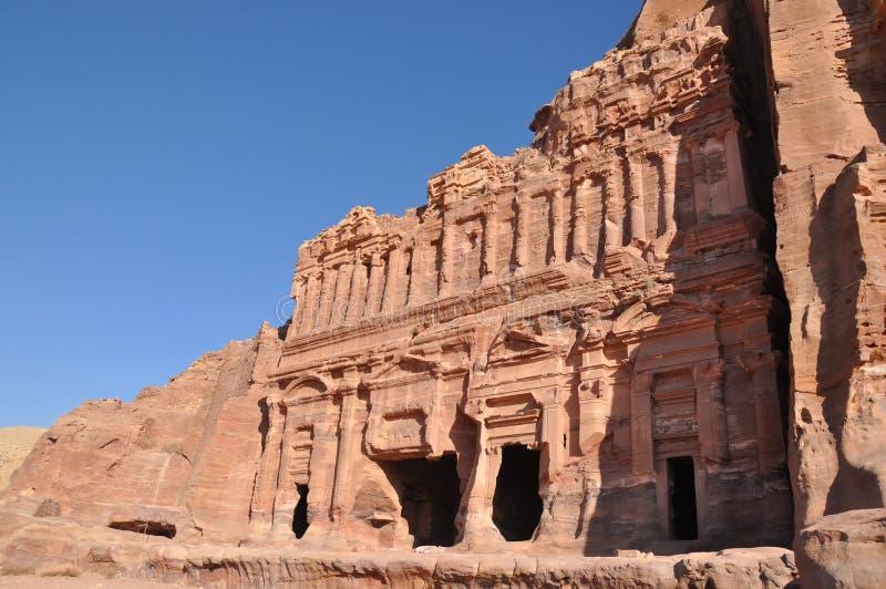 усыпальницы petra дворца Иордана стоковое фото rf