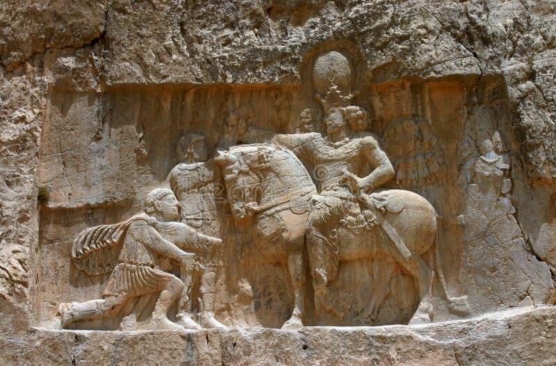 усыпальницы rostam naqsh королей e Ирана перские стоковые изображения rf