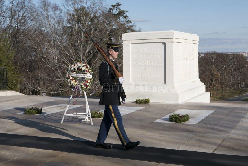 Усыпальница национального кладбища Арлингтона стоковая фотография rf