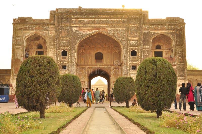 Усыпальница Jahangir, император Mughal, Лахор, Пакистан стоковые изображения rf