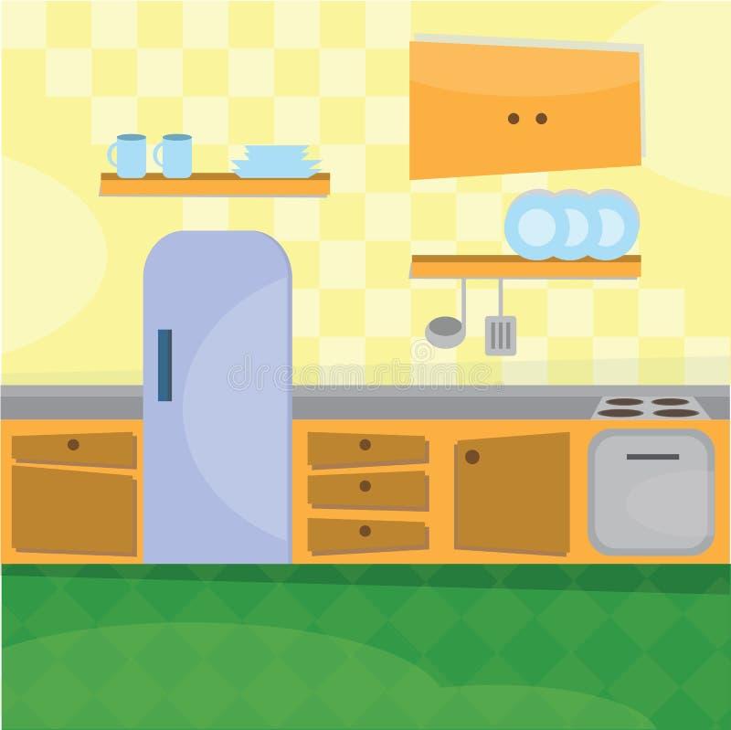 Утвари кухни внутренние и варя бесплатная иллюстрация