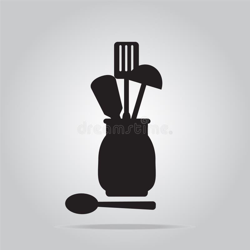 Утвари кухни в контейнере бесплатная иллюстрация