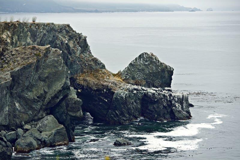 Утесистые прибрежные скалы стоковая фотография rf