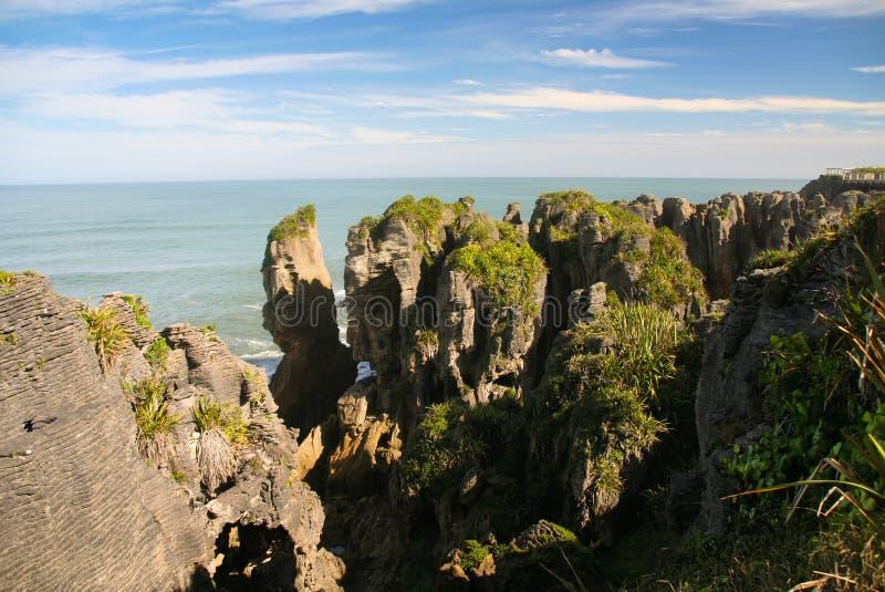 Утесы блинчика Punakaiki, западное побережье, Новая Зеландия стоковые фотографии rf