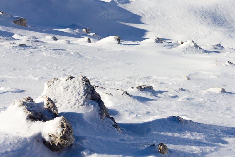 Утесы и снежок стоковые изображения