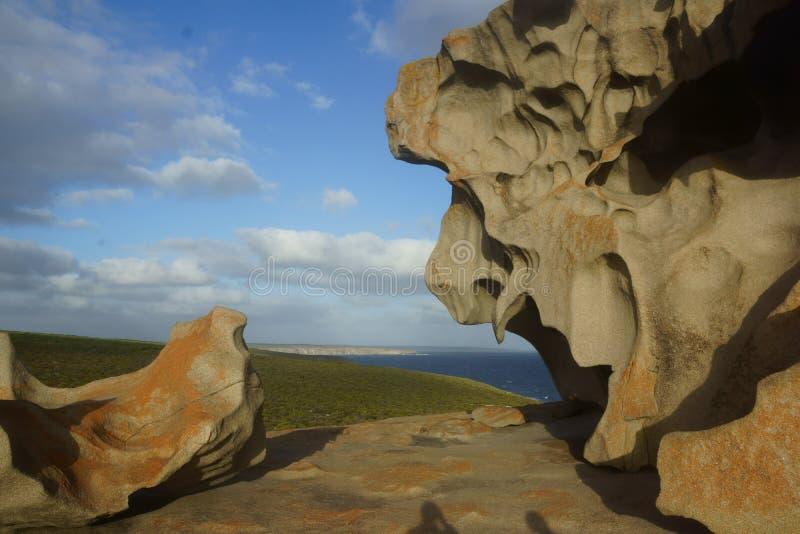 утесы кенгуруа острова Австралии замечательные южные стоковое изображение rf