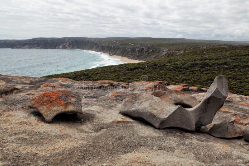 утесы кенгуруа острова замечательные стоковые фотографии rf