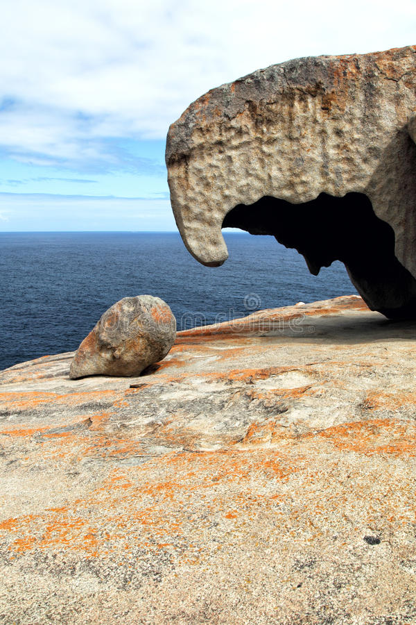 утесы кенгуруа острова замечательные стоковая фотография rf