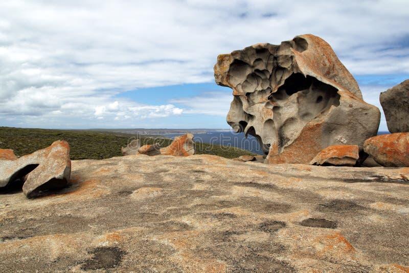 утесы кенгуруа острова замечательные стоковые фото