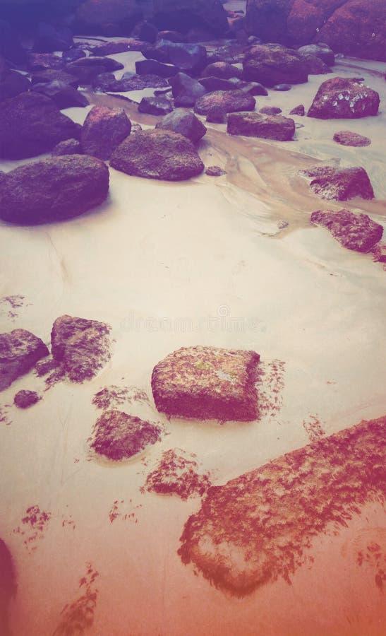 Утесы на острове медового месяца стоковые фотографии rf