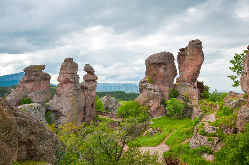 Утесы Belogradchik стоковое фото rf
