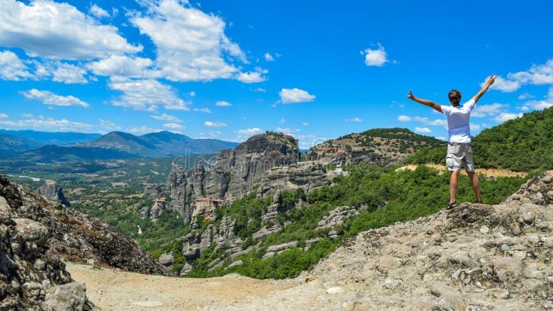 Утесы Meteora в Греции стоковое изображение