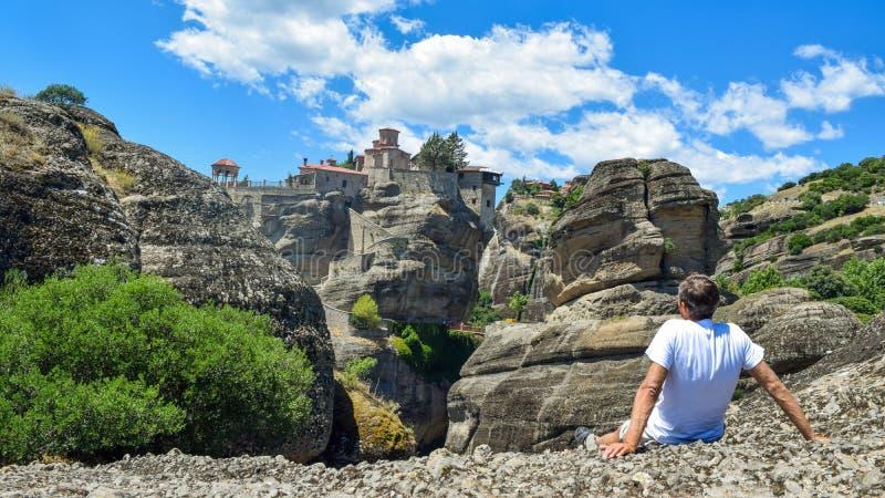 Утесы Meteora в Греции стоковые изображения rf