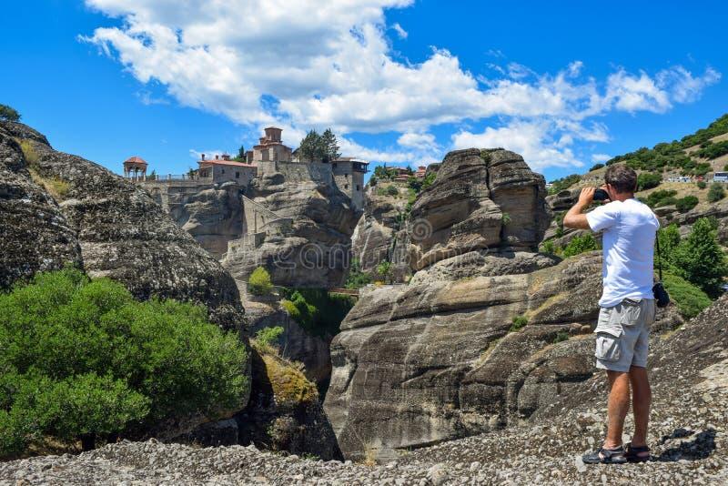 Утесы Meteora в Греции стоковая фотография