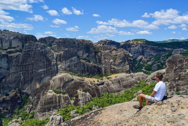 Утесы Meteora в Греции стоковое изображение rf