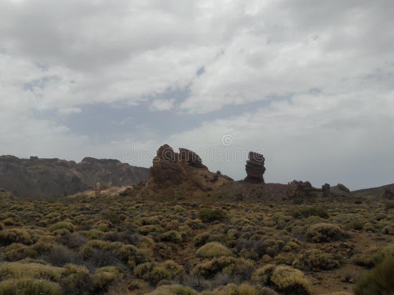 Утесы Teide стоковые изображения