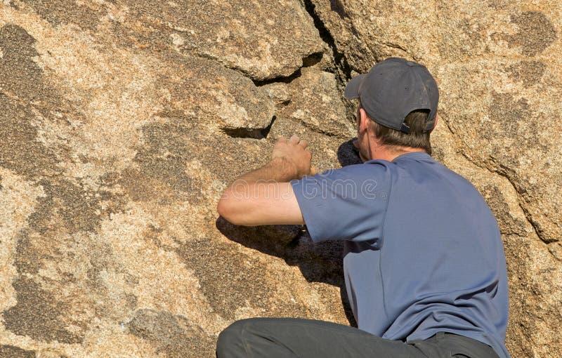 утес альпиниста Стоковая Фотография