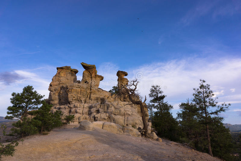 Утес амвона в Колорадо-Спрингс, Колорадо стоковые фотографии rf