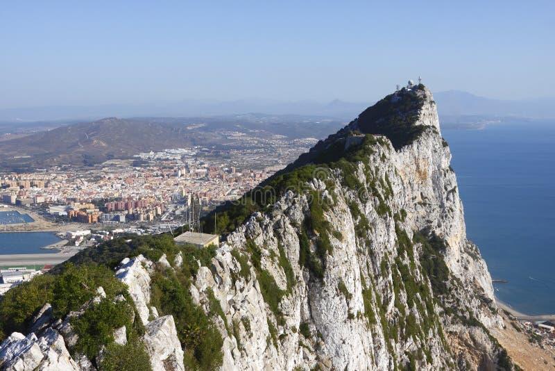 утес Гибралтара стоковые изображения rf