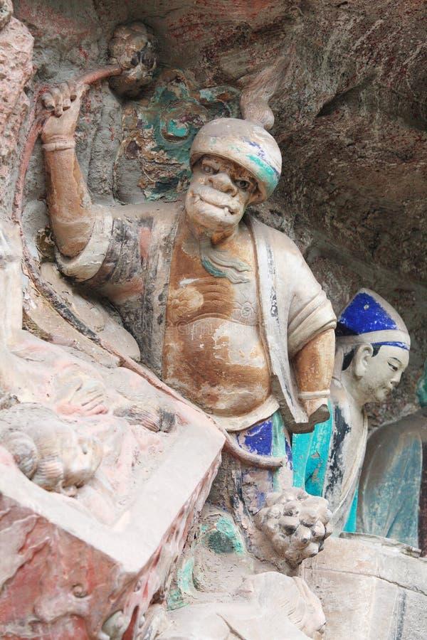 утес горы ding dazu carvings bao стоковая фотография