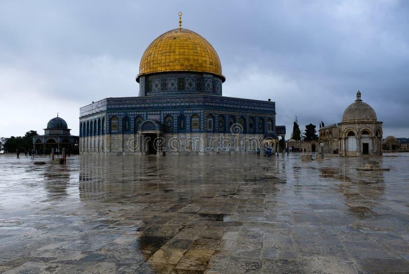 утес Иерусалима купола стоковое фото