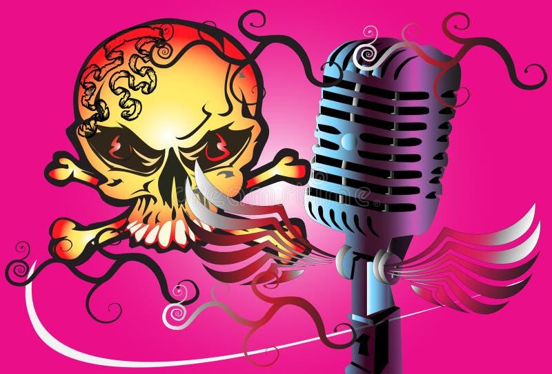 Утес искусства микрофона иллюстрация штока