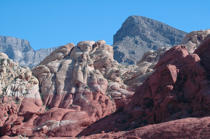 утес красного цвета каньона стоковое изображение rf