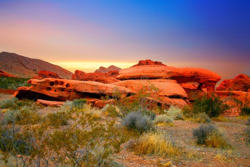 утес красного цвета Невады каньона стоковое изображение rf