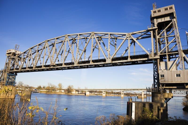утес моста маленький пешеходный стоковая фотография rf