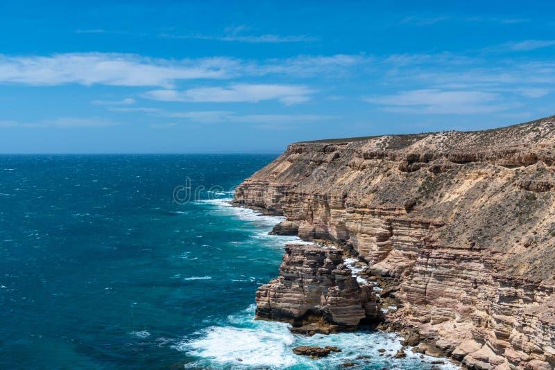 Утес острова национального парка Kalbarri, бухта замка и естественный мост в западной Австралии стоковые фотографии rf