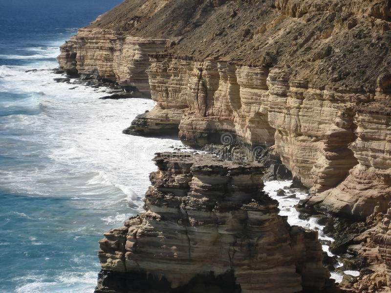 Утес острова - национальный парк Kalbarri - Австралия стоковое изображение rf