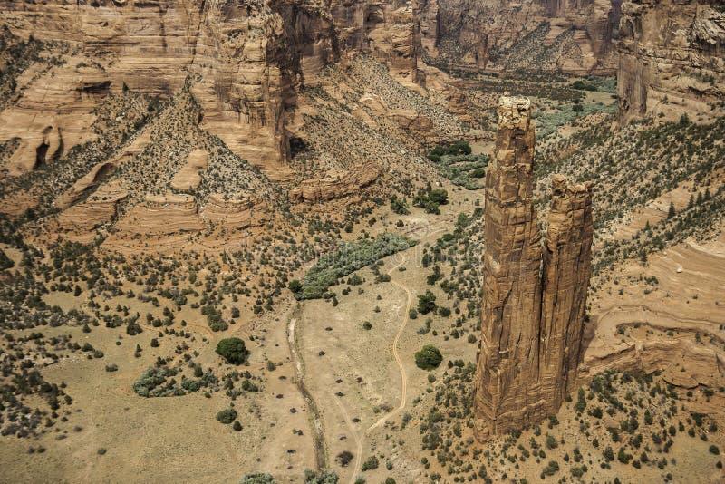 Утес паука - каньон Chelly стоковые фотографии rf