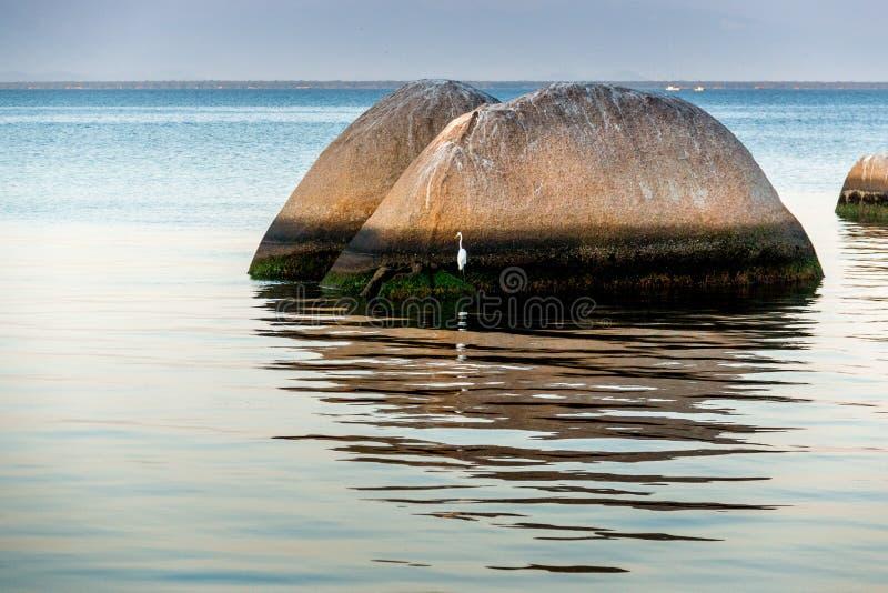 утес пляжа большой стоковое изображение