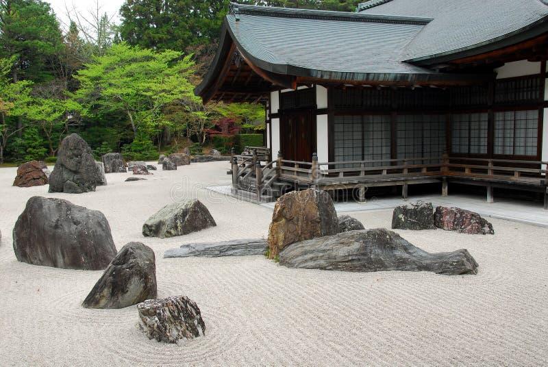 утес японца сада стоковая фотография rf