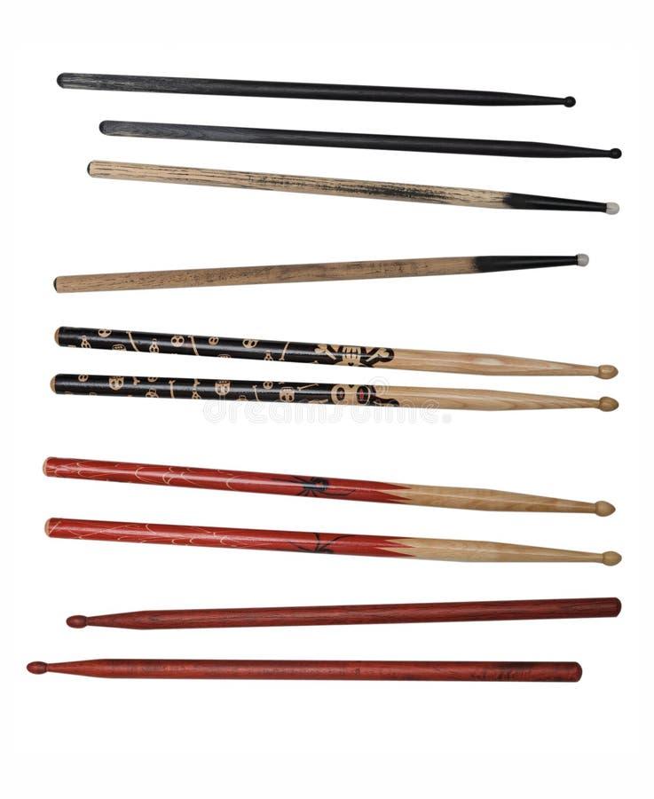 утес drumsticks собрания стоковое фото