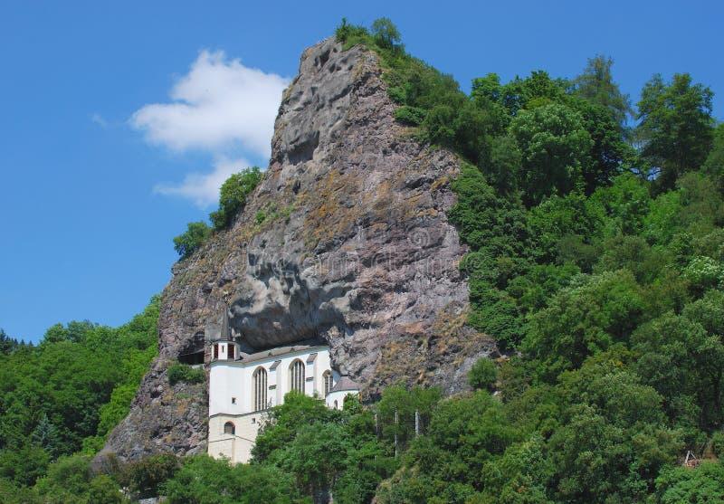 утес oberstein Германии церков idar стоковые фото