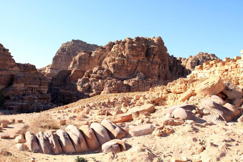 утес petra Иордана города потерянный стоковые фото