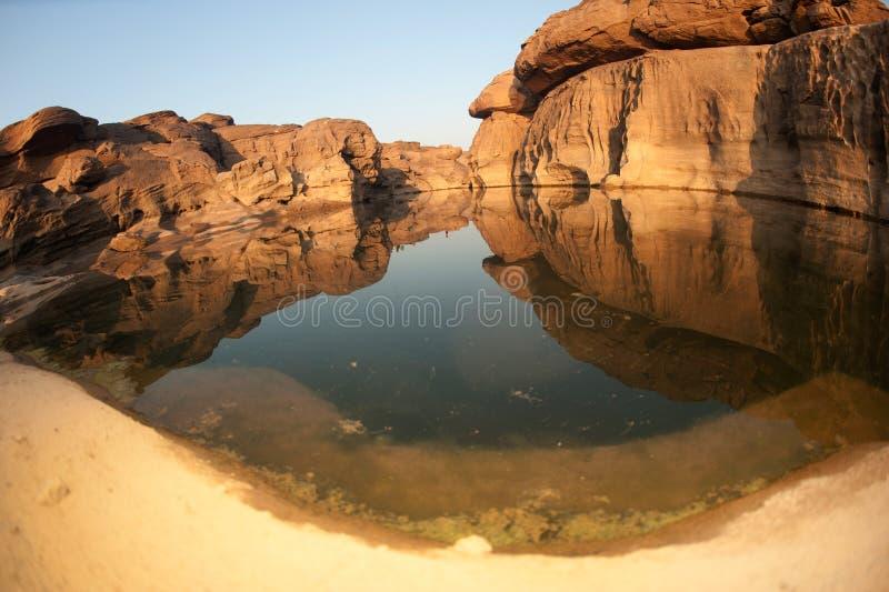 утес sam реки phan khong каньона bok стоковая фотография rf