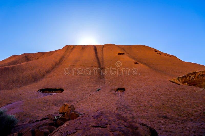 Утес Uluru - Ayers стоковые изображения rf