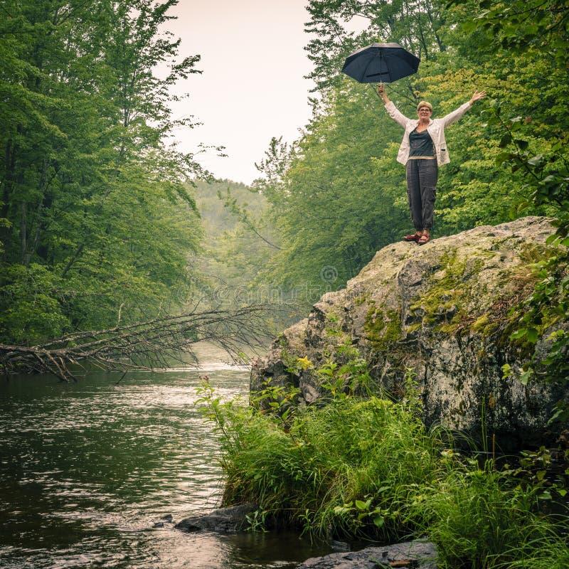 Утеха в дожде стоковое фото rf