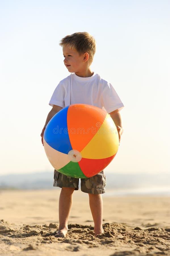 Утеха шарика пляжа стоковые изображения rf